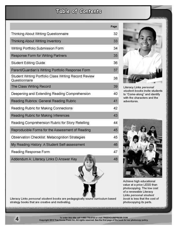 Literacy Links E Teaching and Assessment Guide sample page