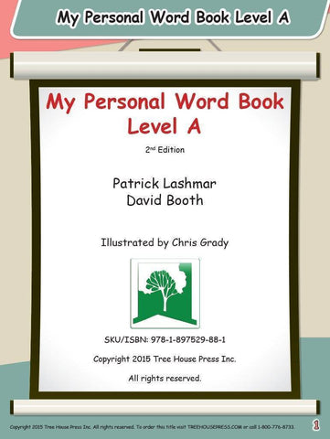 My Personal Word Book Level A