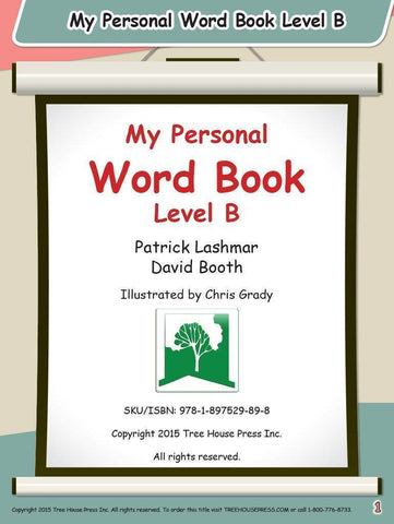 Image of My Personal Word Book Level B
