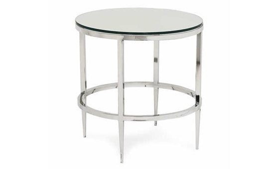 live in style with the albany round side table from attica