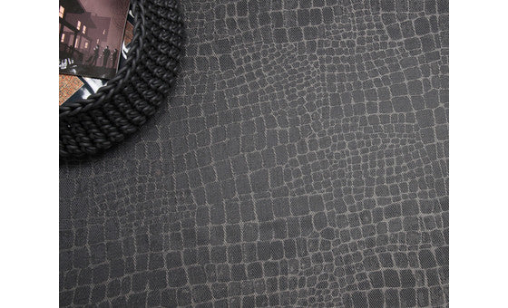 decorate in style with the croc dark silver rug from attica