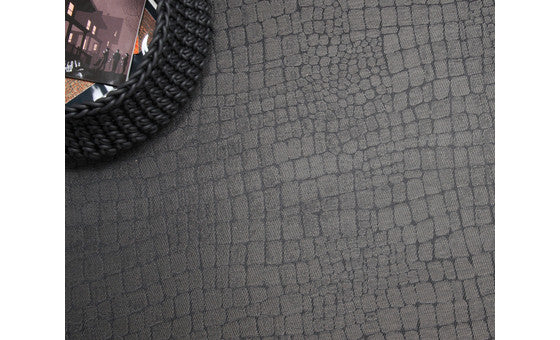decorate in style with the croc light silver rug from attica