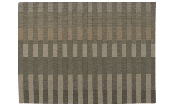 decorate in style with the linear blocks buff area rug from attica