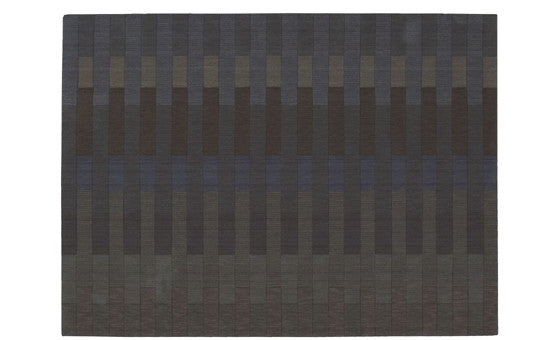 decorate in style with the linear blocks slate area rug from attica