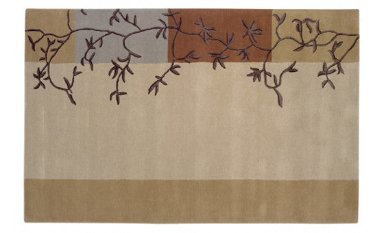 decorate in style with the vines beige rug from attica