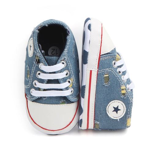 First Walkers Shoes Unisex Canvas Classic Sports Sneakers Newborn Baby Boys Girls  Infant Toddler Soft Sole Anti-slip Baby Shoes