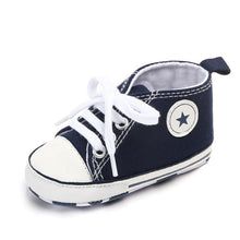 Load image into Gallery viewer, First Walkers Shoes Unisex Canvas Classic Sports Sneakers Newborn Baby Boys Girls  Infant Toddler Soft Sole Anti-slip Baby Shoes