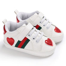 Load image into Gallery viewer, First Walkers Baby Shoes Buckle multicolor love Fashion Sneakers Newborn Baby Crib Shoes Boys Girls Infant Toddler Soft Sole
