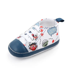 Load image into Gallery viewer, Unicorn graffiti newborn baby girl boys shoes soft shoes dinosaur printing infant toddler hard bottom crib shoes first walking s