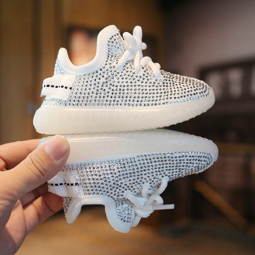 2019 Baby Rhinestone Sneakers Coconut Shoes Autumn 0-2 Years Boy Sports Shoes Girls Toddler Shoes Soft Bottom Children's Shoes