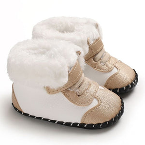 Toddler Kids Girl Shoes Winter Boots Soft Sole Walkers Sweet Princess Newborn Baby Girls First Winter Infant Footwear