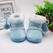 Load image into Gallery viewer, Newborn Girls Boys Shoes Baby Boots Winter First Walkers Tassel Fur Snow Super Warm Prewalkers Soft Sole No-slip Booties