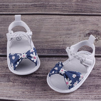 UK Summer Baby Girl Bowknot Toddler Shoes Anti-Slip Crib Shoes Soft Sole Prewalkers Baby Toddler Shoes
