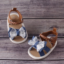 Load image into Gallery viewer, UK Summer Baby Girl Bowknot Toddler Shoes Anti-Slip Crib Shoes Soft Sole Prewalkers Baby Toddler Shoes