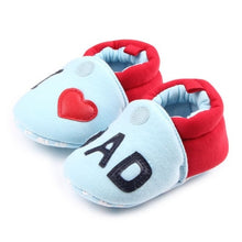 Load image into Gallery viewer, Romirus Autumn Baby Cotton Prewalker Soft Bottom Anti Slip baby shoes Infant Toddler Cartoon Mickey Mouse Shoes