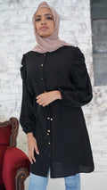 Puff Sleeve Long Shirt -  Modelle