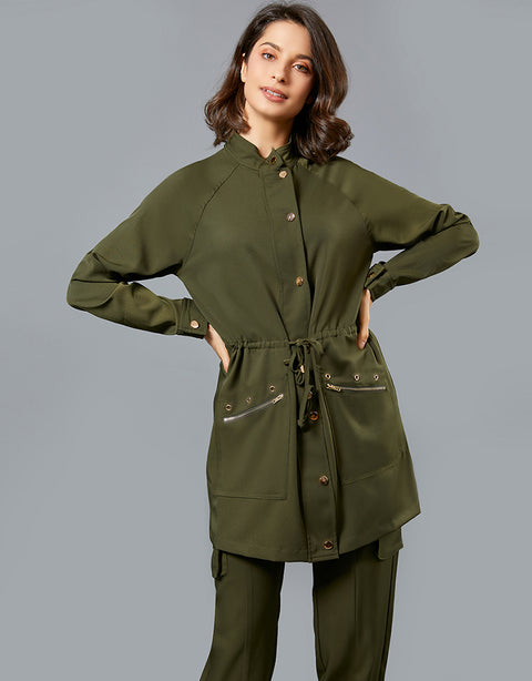 Relaxed Drawstring Jacket -  Modelle