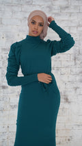 Madeline High Neck Knit Dress -  Modelle