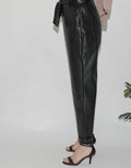 Modish Leather Ruffle Pant -  Modelle