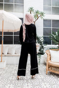 Contrast Straight Pants -  Modelle