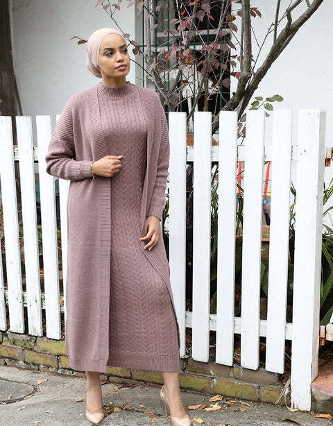 Cable Knitted Dress -  Modelle