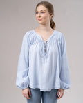 Lace Up Boho Blouse -  Modelle