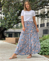 Floral Tiered Skirt