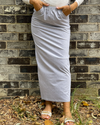 Cotton Pocket Pencil Skirt