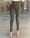 Black Ankle Zip High Rise Jeans