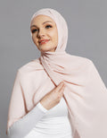 Chiffon Shawl - Baby Light Pink