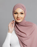 Chiffon Shawl - Dusty Purple