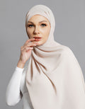 Chiffon Shawl - Light Mocha