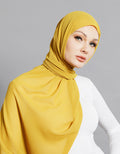 Chiffon Shawl - Yellow Mustard