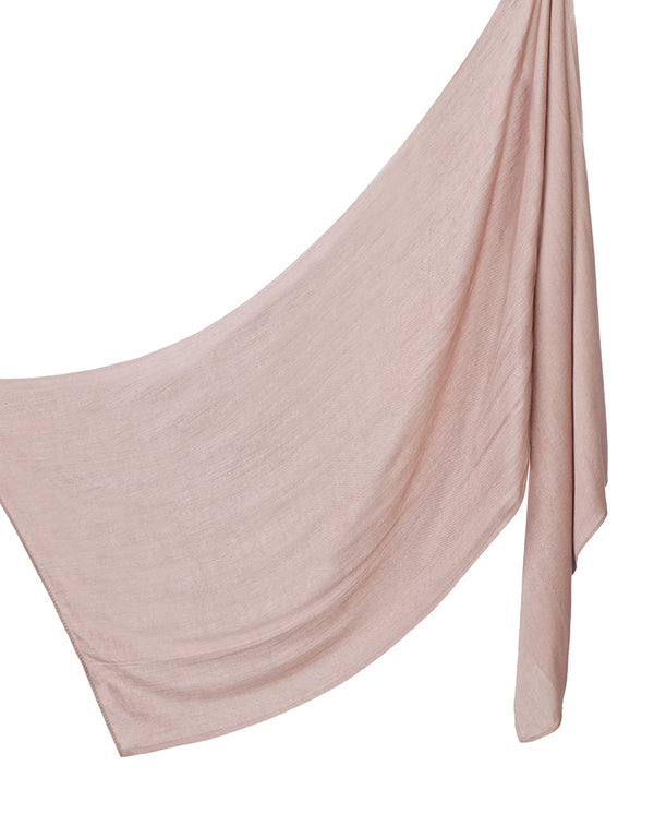 Cotton Tassleless Shawl - Taupe