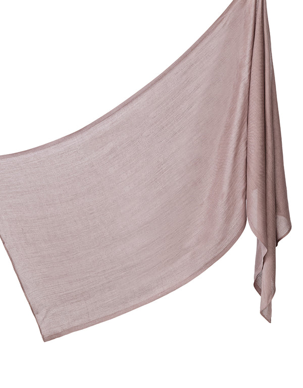 Cotton Tassleless Shawl - Silver Purple