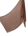 Cotton Tassleless Shawl - Saddle