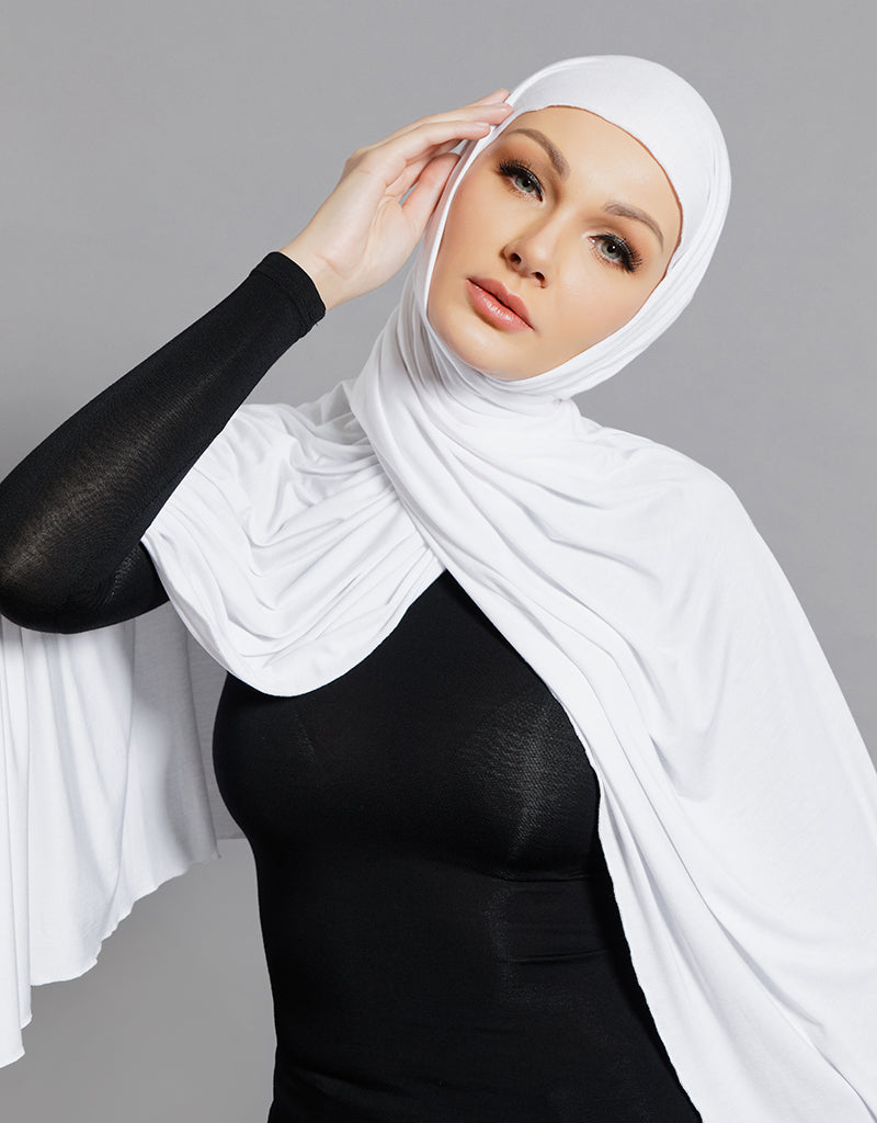 Chiffon Shawl - River White