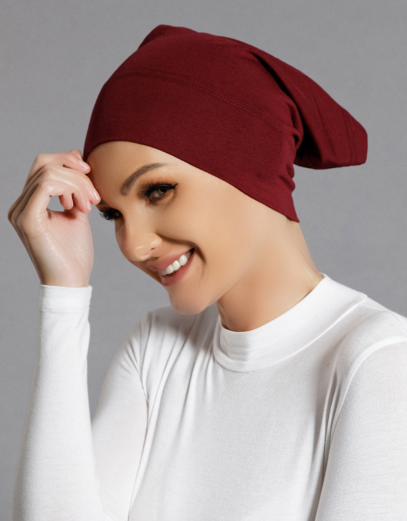 CC Cotton Cap - Burgundy -  Modelle