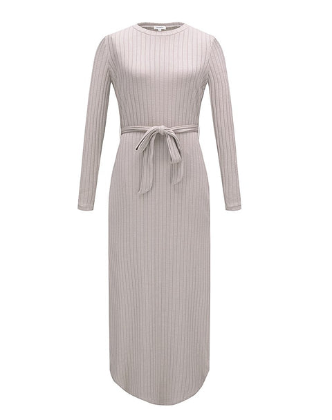 Knitted Rib Tie Dress -  Modelle