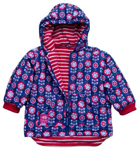 JoJo Maman Bebe Reversible Puffer Jacket - Toddler Girl
