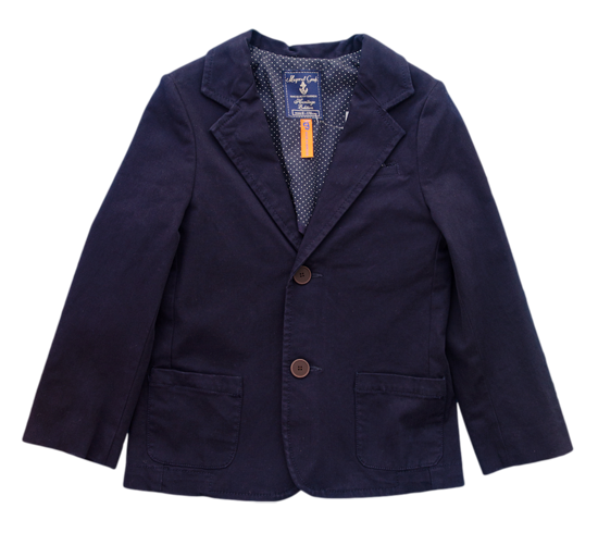Mayoral Navy Cotton Twill Blazer - Kids on King