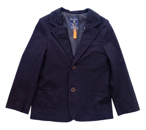 Mayoral Navy Cotton Twill Blazer - Boy