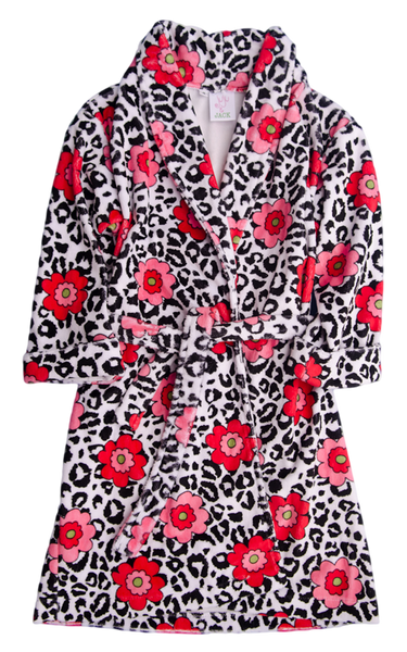 Juju & Jack Leopard Rose Robe - Kids on King