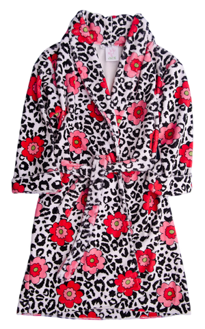 Juju & Jack Leopard Rose Robe - Girl