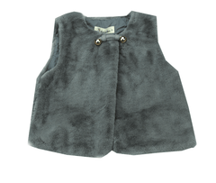 Doe A Dear Grey Faux Fur Vest