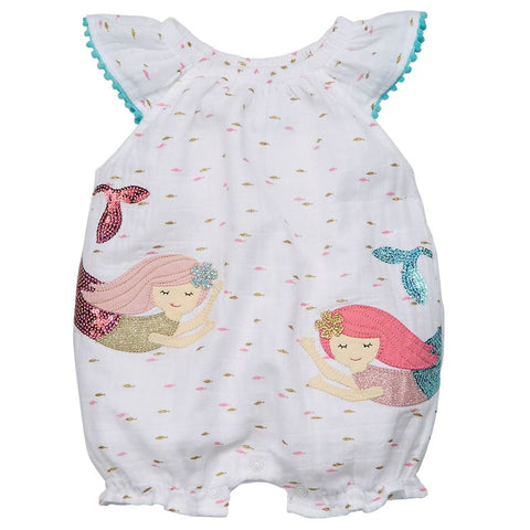 Mud Pie Muslin Mermaid Bubble