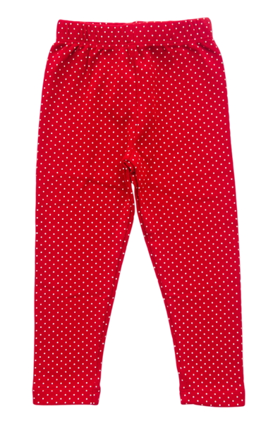 Baby Luigi Red Polka Dot Leggings - Kids on King