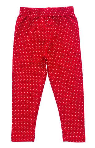 Baby Luigi Red Polka Dot Leggings - Baby Girl