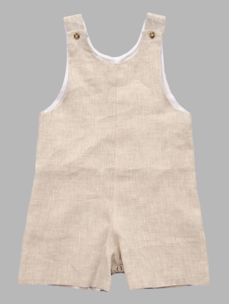 Jack and Teddy Khaki Linen Shortall - Kids on King