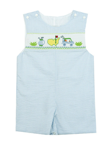 Le Za Me Seersucker Golf Shortall